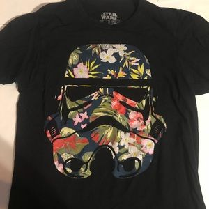 Star Wars fifth sun floral stormtrooper tee size S